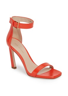 Stuart Weitzman Square Nudist Ankle Strap Sandal (Women)
