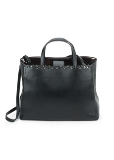 Stuart Weitzman Studded Leather Tote Bag