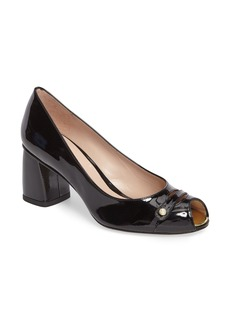 Stuart Weitzman Tabeta Open Toe Pump (Women)