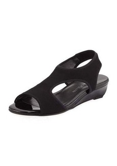 Stuart Weitzman Taking Stretch Wedge Sandal