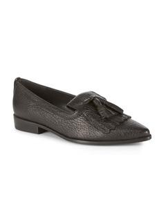 Stuart Weitzman Avatass Point Toe Leather Loafers