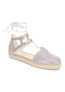 Stuart Weitzman Walk My Way Glitter Espadrille Sandals