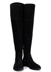 Stuart Weitzman Woman Amber Suede Over-the-knee Boots Black