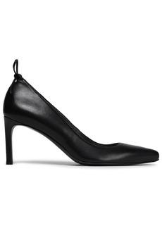 Stuart Weitzman Woman Bow-embellished Leather Pumps Black