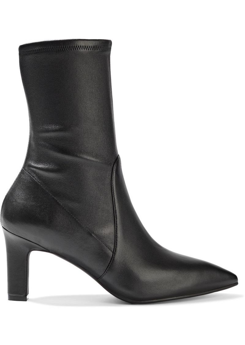 Stuart Weitzman Woman Brandie Leather Sock Boots Black