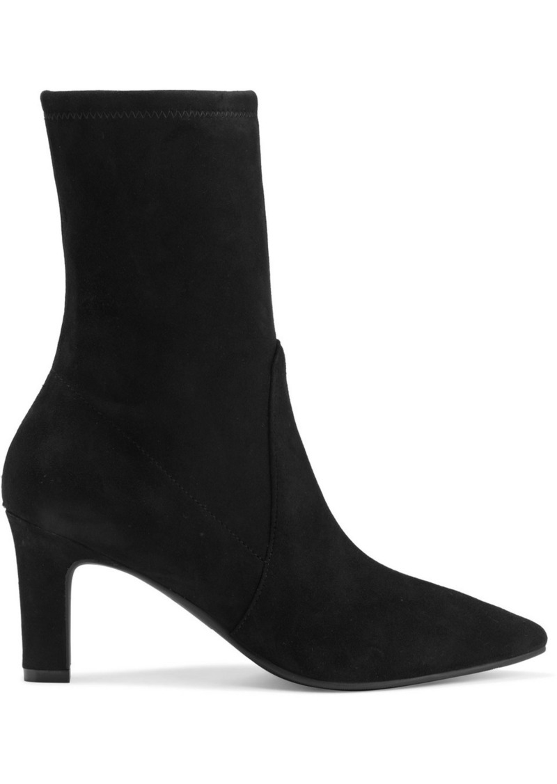 Stuart Weitzman Woman Brandie Stretch-suede Sock Boots Black