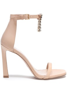 Stuart Weitzman Woman Crystal-embellished Leather Sandals Blush
