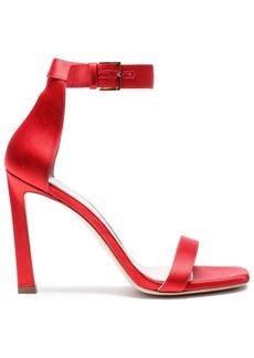 Stuart Weitzman Woman Cutout Satin Sandals Red
