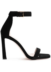 Stuart Weitzman Woman Cutout Suede Sandals Black