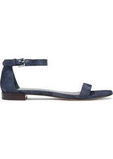 Stuart Weitzman Woman Denim Sandals Dark Denim