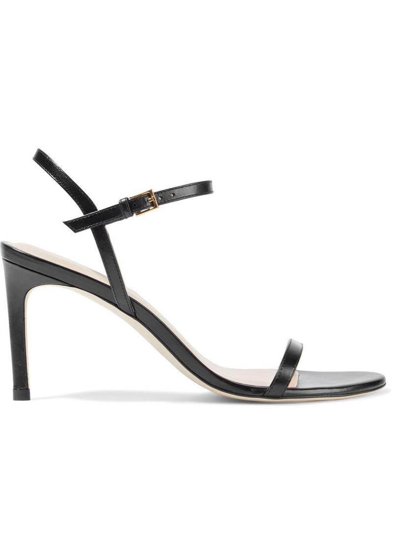 Stuart Weitzman Woman Kassidy Leather Sandals Black