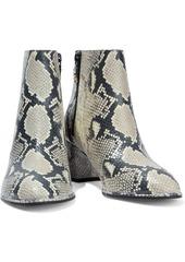 Stuart Weitzman Woman Kiandra Leather Ankle Boots Light Gray