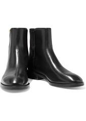 Stuart Weitzman Woman Kye Leather And Neoprene Ankle Boots Black
