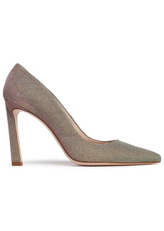 Stuart Weitzman Woman Lamé Pumps Gold