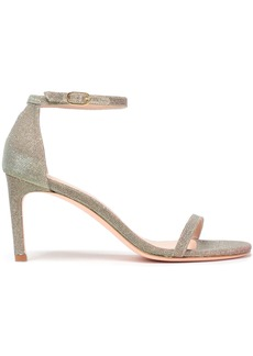 Stuart Weitzman Woman Lamé Sandals Gold