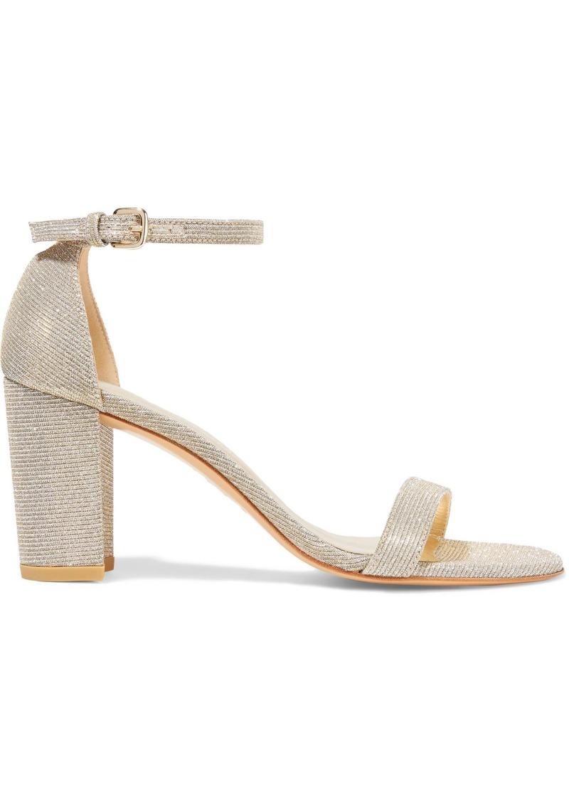 Stuart Weitzman Woman Lamé Sandals Gold