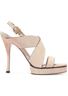 Stuart Weitzman Woman Leather Platform Sandals Blush