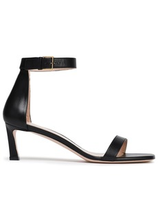 Stuart Weitzman Woman Leather Sandals Black