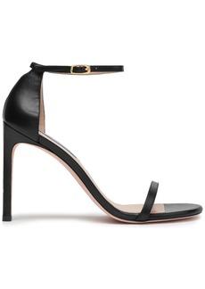 Stuart Weitzman Woman Leather Sandals Black