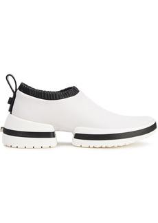 Stuart Weitzman Woman Leather Slip-on Sneakers Ivory