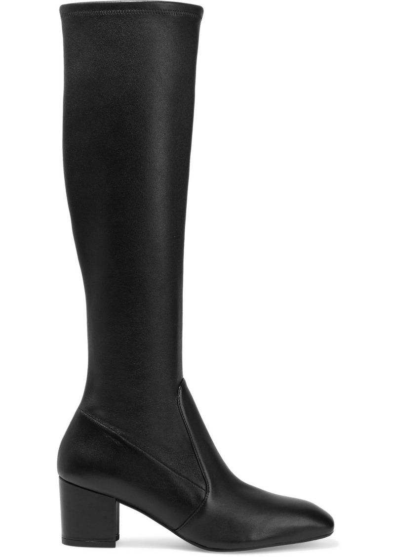Stuart Weitzman Woman Liviana Stretch-leather Knee Boots Black