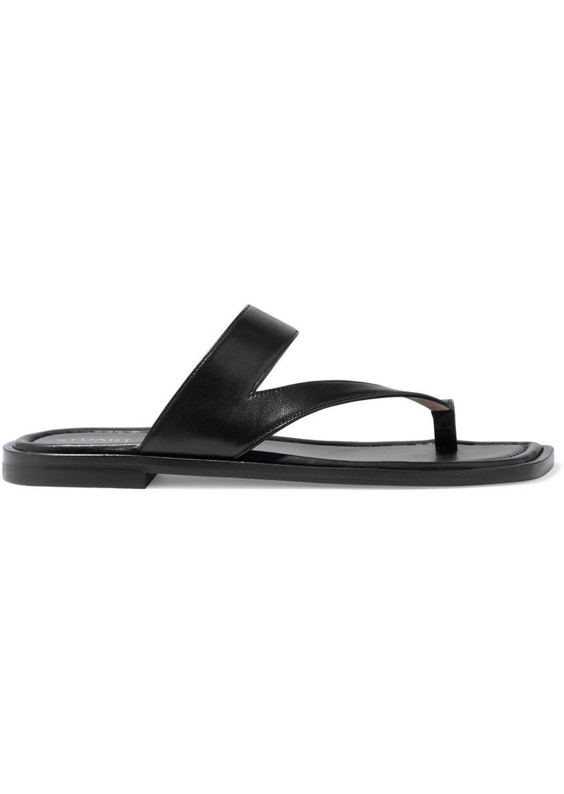 Stuart Weitzman Woman Lyla Leather Sandals Black