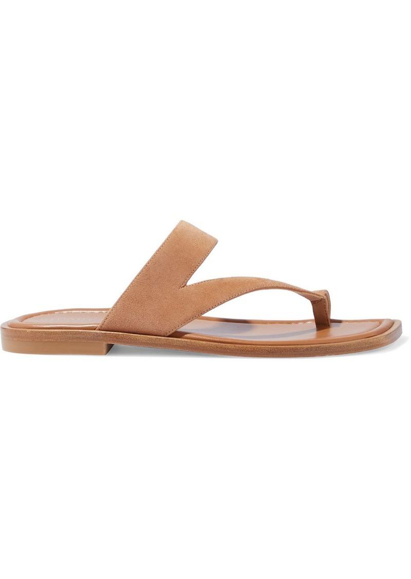 Stuart Weitzman Woman Lyla Suede Sandals Tan