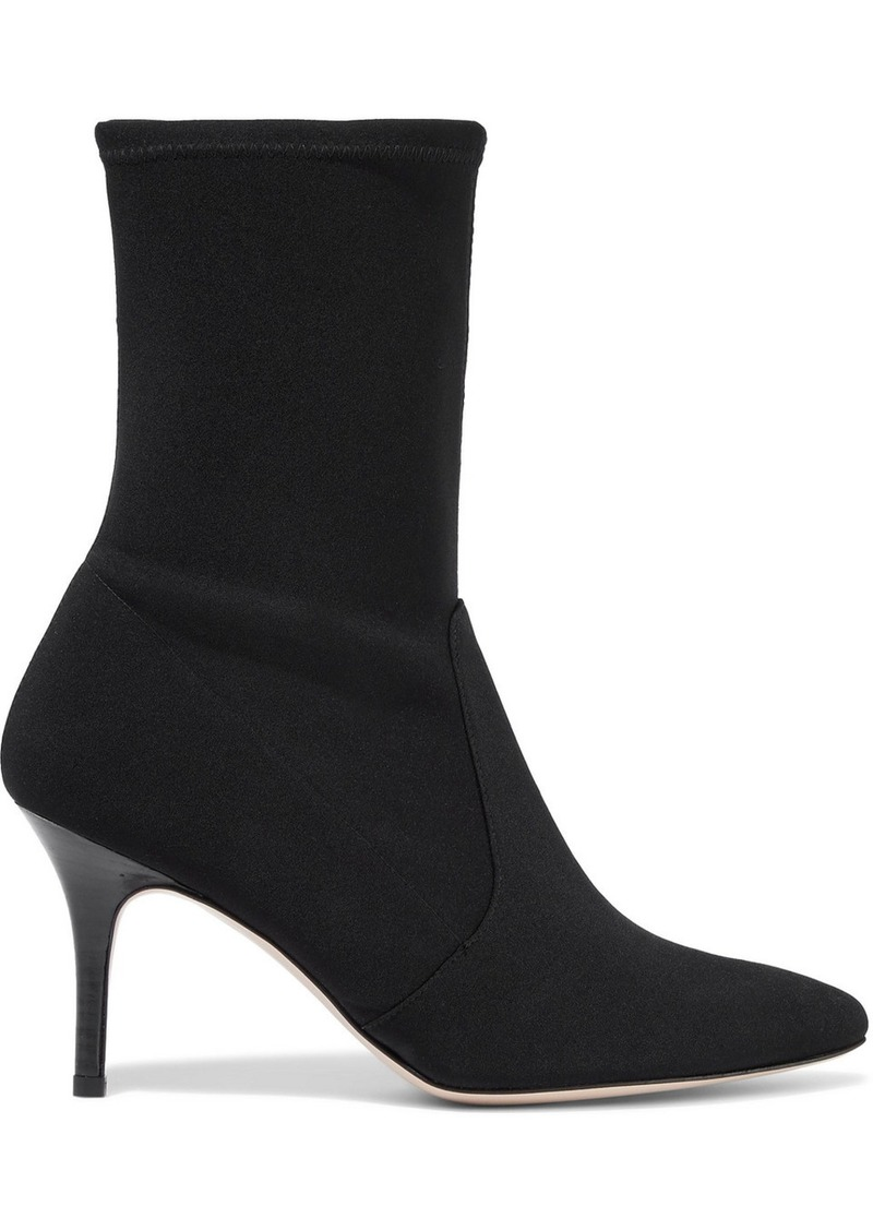 Stuart Weitzman Woman Neoprene Sock Boots Black