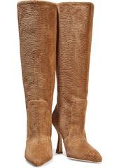 Stuart Weitzman Woman Parton Corduroy Knee Boots Camel