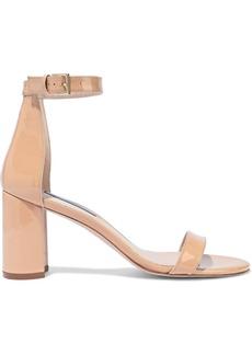 Stuart Weitzman Woman Patent-leather Sandals Beige