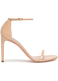 Stuart Weitzman Woman Patent-leather Sandals Neutral