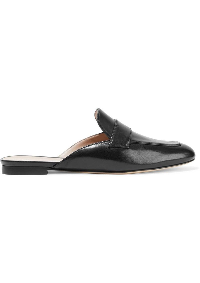 Stuart Weitzman Woman Payson Leather Slippers Black