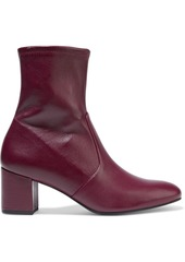 Stuart Weitzman Woman Siggy 60 Stretch-leather Ankle Boots Claret