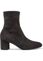 Stuart Weitzman Woman Siggy 60 Stretch-suede Ankle Boots Black
