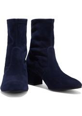 Stuart Weitzman Woman Siggy 60 Stretch-suede Sock Boots Black