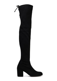 Stuart Weitzman Woman Stretch-suede Over-the-knee Boots Black
