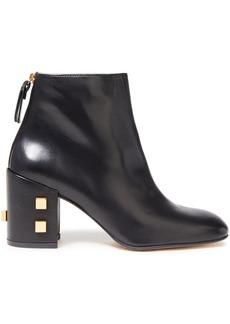 Stuart Weitzman Woman Studded Leather Ankle Boots Black