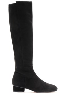 Stuart Weitzman Woman Eloise 30 Suede Knee Boots Black