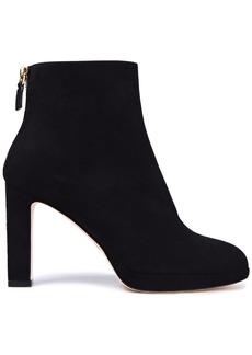 Stuart Weitzman Woman Suede Platform Ankle Boots Black
