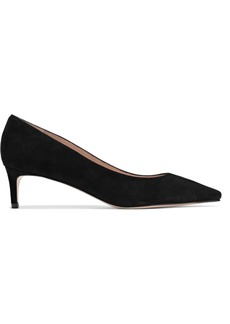 Stuart Weitzman Woman Suede Pumps Black