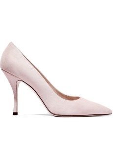 Stuart Weitzman Woman Suede Pumps Pastel Pink