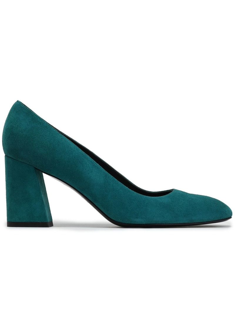 Stuart Weitzman Woman Suede Pumps Emerald