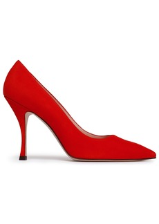 Stuart Weitzman Woman Suede Pumps Red