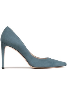 Stuart Weitzman Woman Suede Pumps Teal