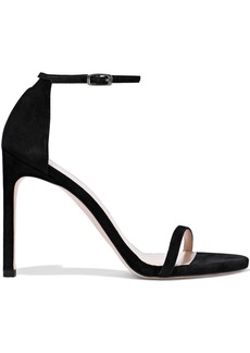 Stuart Weitzman Woman Suede Sandals Black