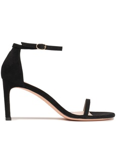 Stuart Weitzman Woman Suede Sandals Black