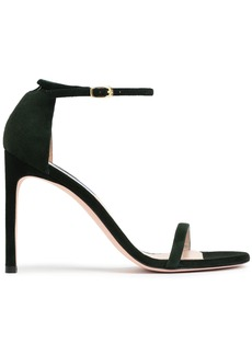 Stuart Weitzman Woman Suede Sandals Forest Green