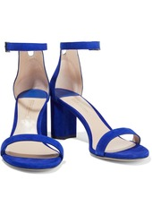 Stuart Weitzman Woman Suede Sandals Indigo