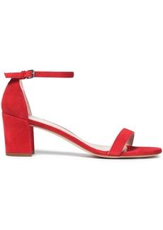 Stuart Weitzman Woman Suede Sandals Red