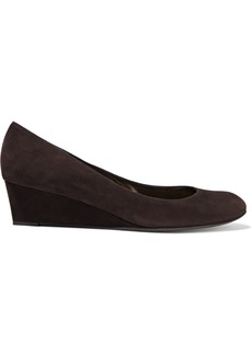 Stuart Weitzman Woman Suede Wedge Pumps Dark Brown